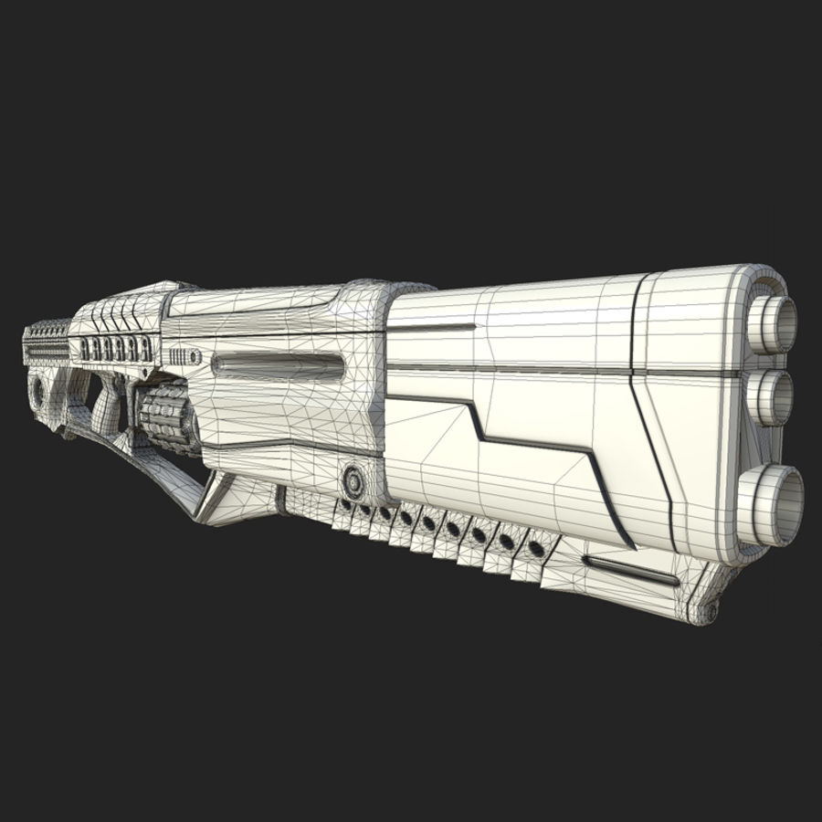 Sci-fi weapons royalty-free 3d model - Preview no. 11