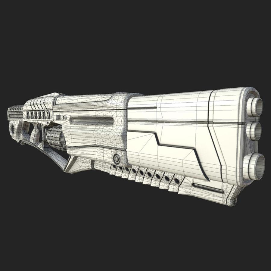 Armi di fantascienza royalty-free 3d model - Preview no. 11