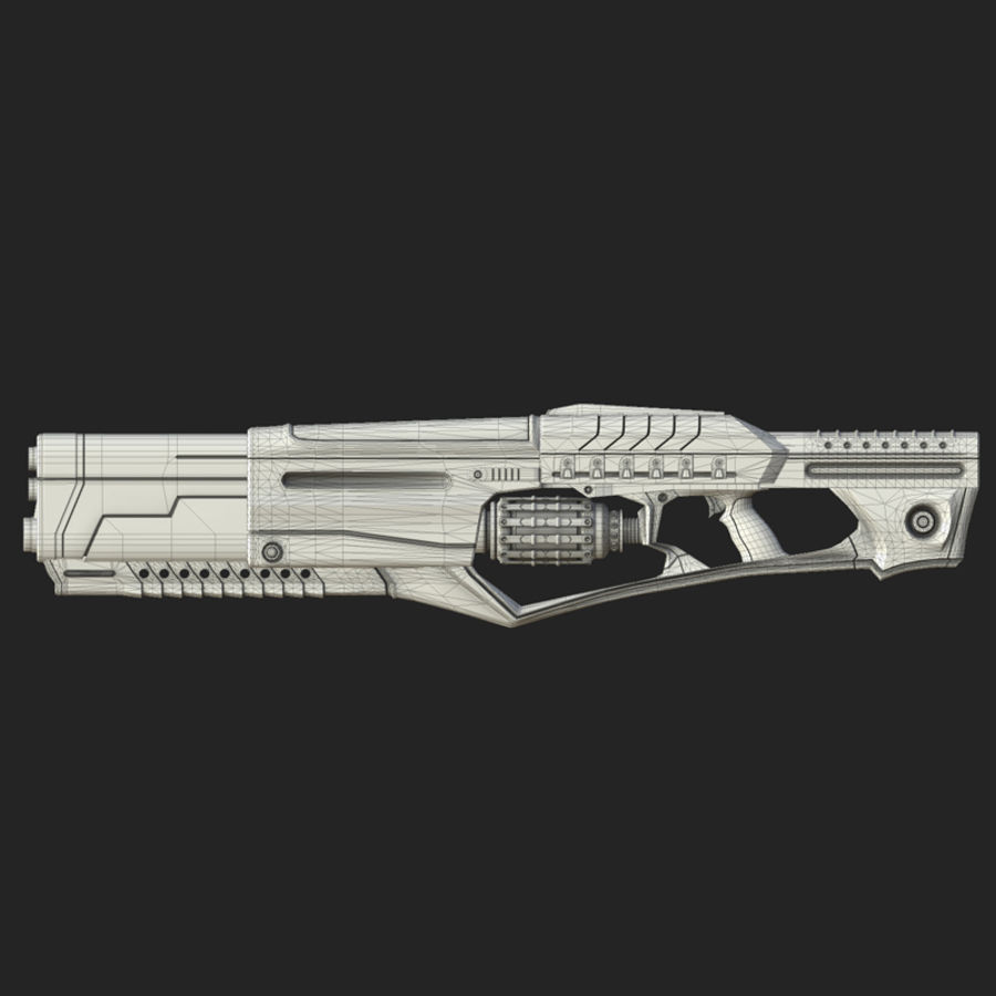 Sci-fi weapons royalty-free 3d model - Preview no. 7