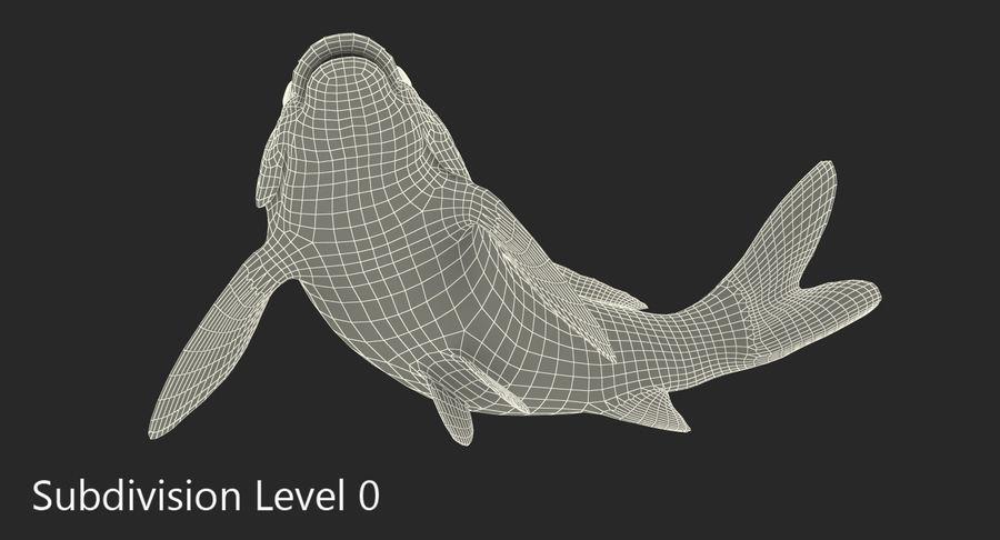 Harivake Koi Fish Swiming Pose royalty-free 3d model - Preview no. 15
