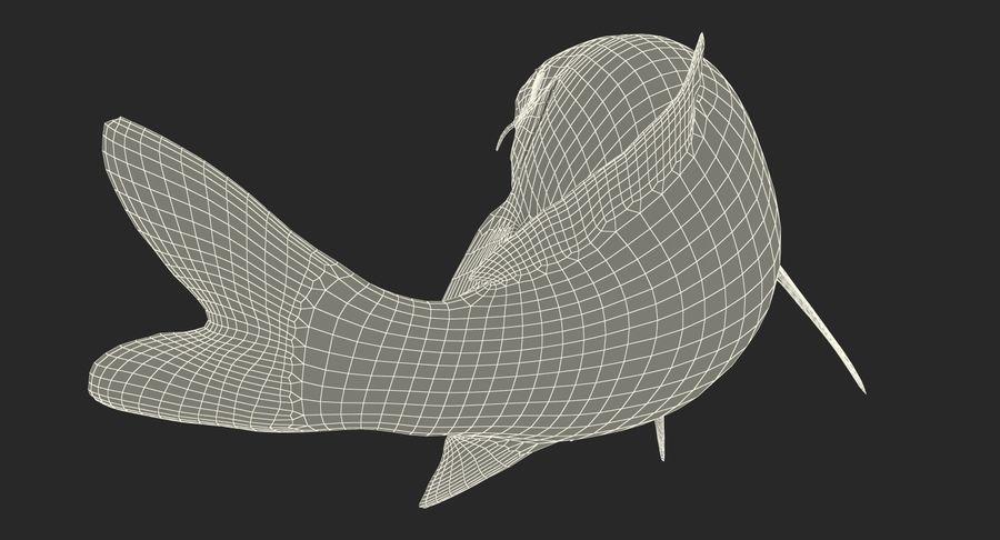 Harivake Koi Fish Swiming Pose royalty-free 3d model - Preview no. 32