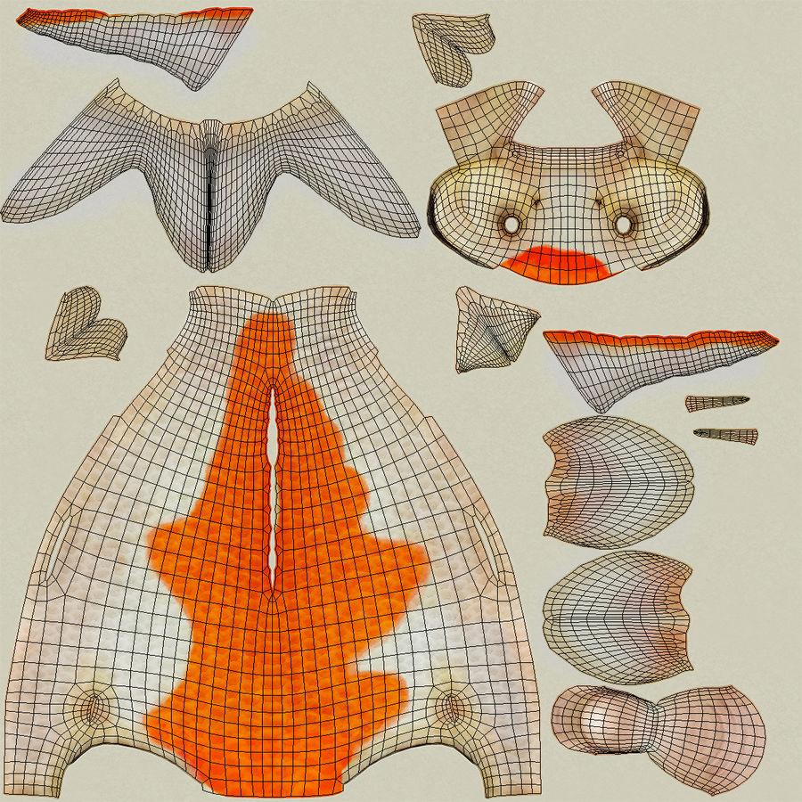 Harivake Koi Fish Swiming Pose royalty-free 3d model - Preview no. 17
