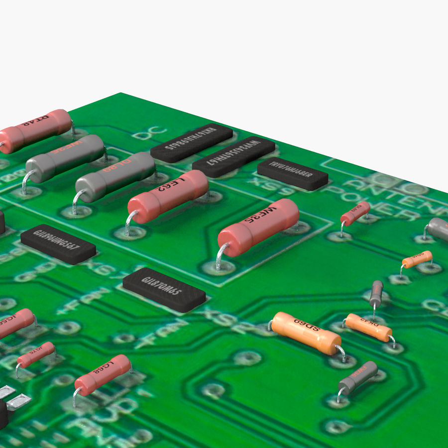 Electronic Circuit Board 3d Model 29 Fbx Obj Max Free3d Electric Royalty Free Preview No 16