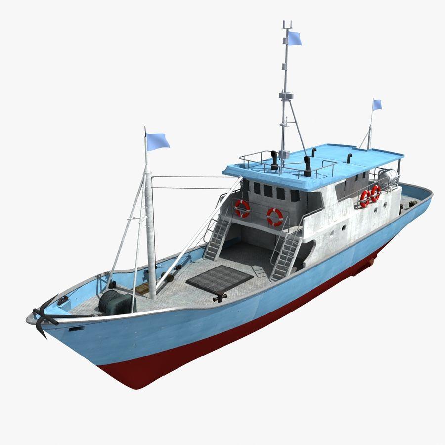 3d Tuna Fish: Fishing Boat 02 3D Model $39