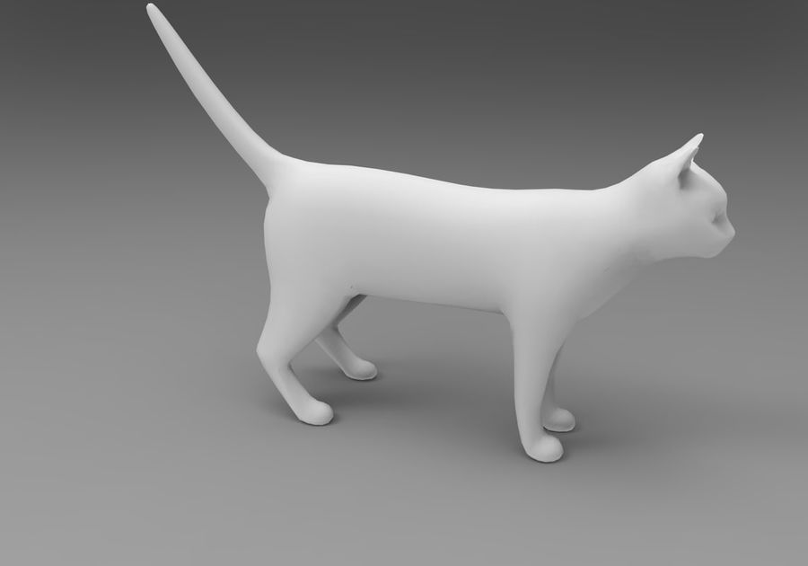 猫のアニメーション(1) royalty-free 3d model - Preview no. 26