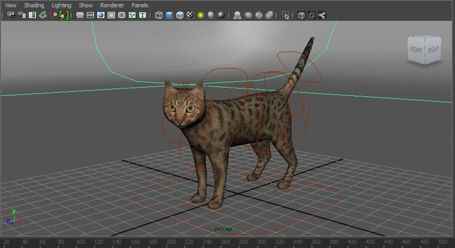 猫のアニメーション(1) royalty-free 3d model - Preview no. 23