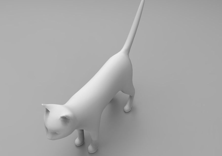 猫のアニメーション(1) royalty-free 3d model - Preview no. 24