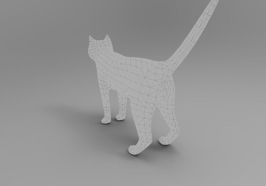 猫のアニメーション(1) royalty-free 3d model - Preview no. 30