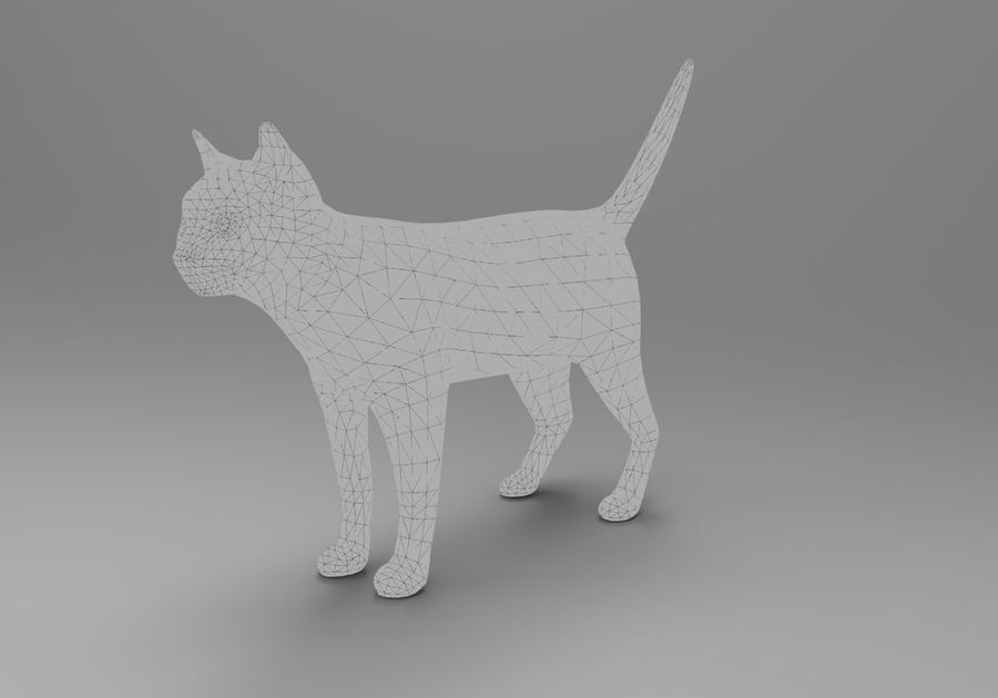 猫のアニメーション(1) royalty-free 3d model - Preview no. 29