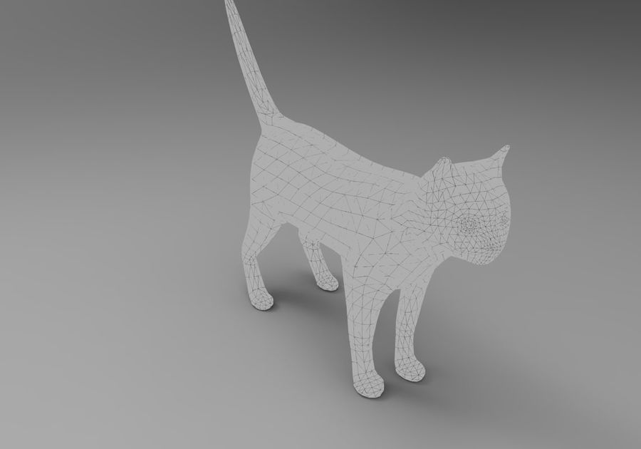 猫のアニメーション(1) royalty-free 3d model - Preview no. 28
