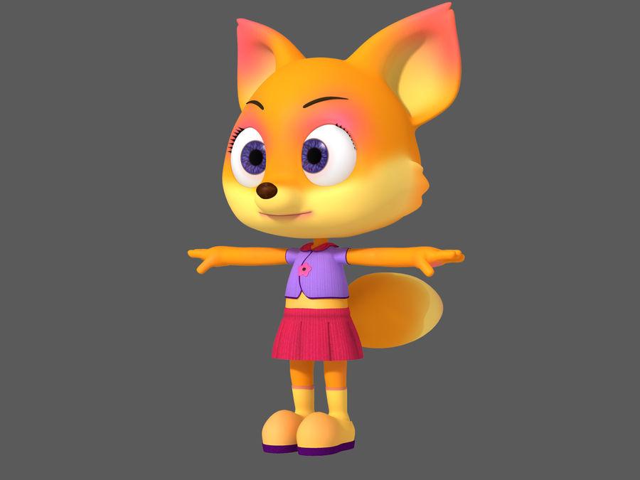 Cartoon fox royalty-free 3d model - Preview no. 3
