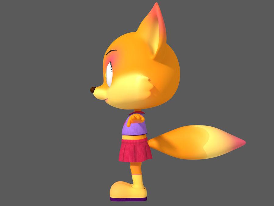 Cartoon fox royalty-free 3d model - Preview no. 4