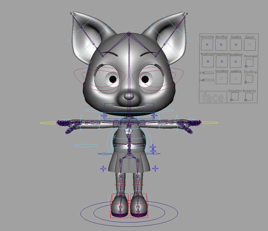 Cartoon fox royalty-free 3d model - Preview no. 7