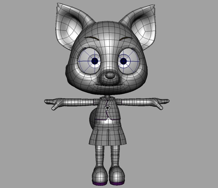 Cartoon fox royalty-free 3d model - Preview no. 9