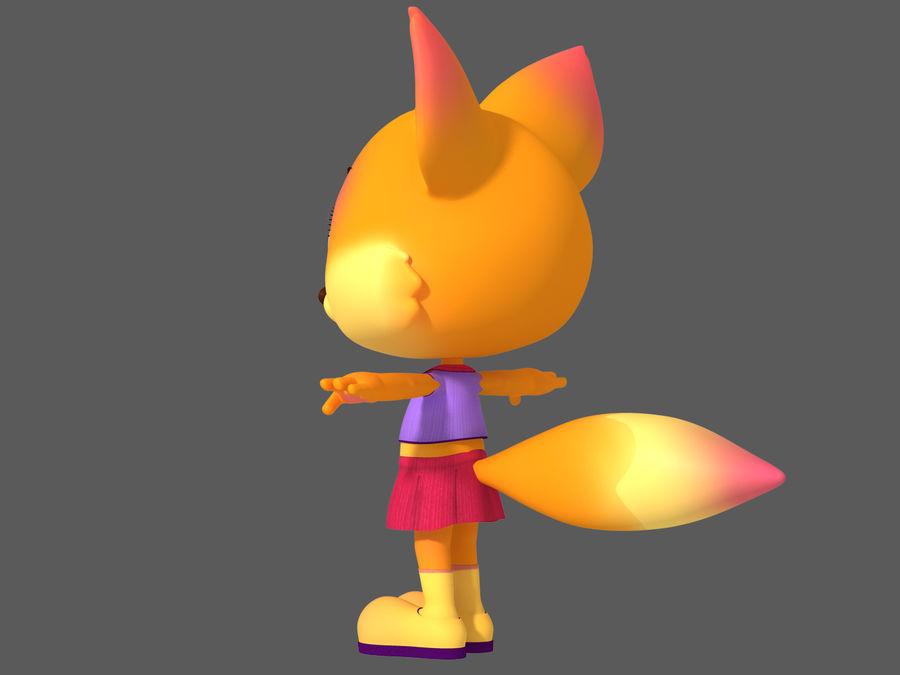 Cartoon fox royalty-free 3d model - Preview no. 5