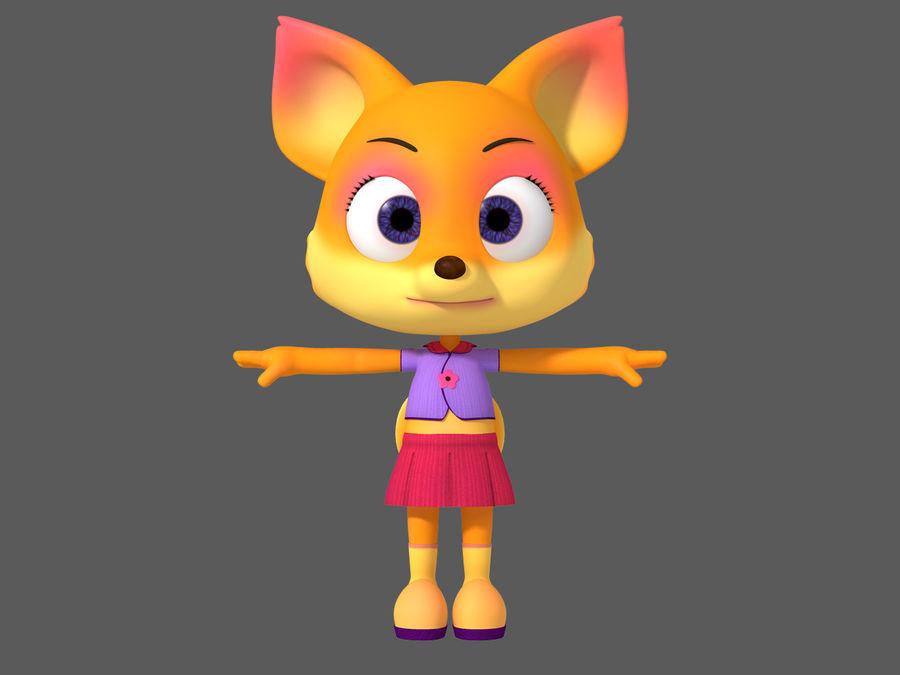 Cartoon fox royalty-free 3d model - Preview no. 2