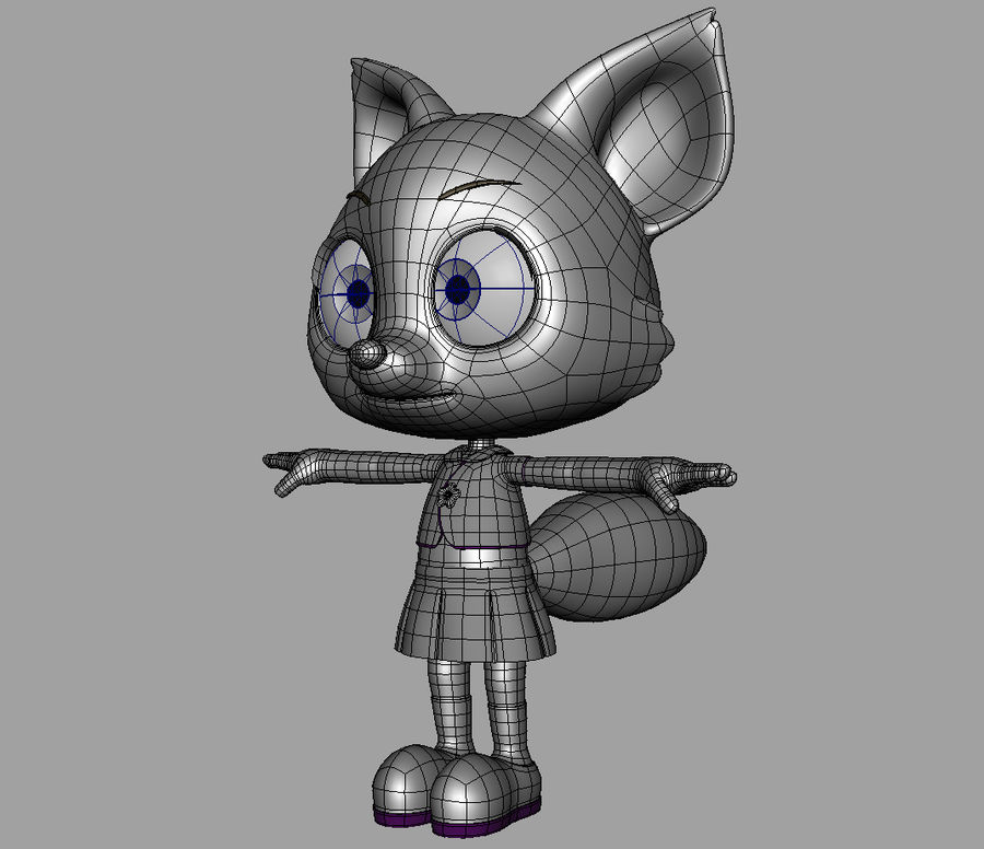 Cartoon fox royalty-free 3d model - Preview no. 10
