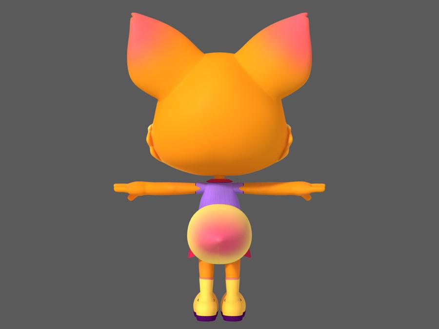 Cartoon fox royalty-free 3d model - Preview no. 6