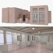 Adobe house two interior + exterior full 3d model