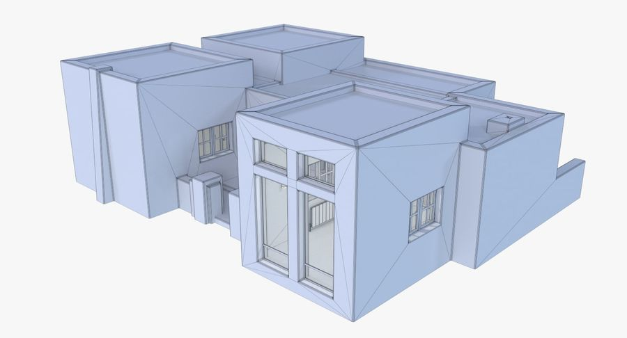 Adobe house two interior + exterior full royalty-free 3d model - Preview no. 19