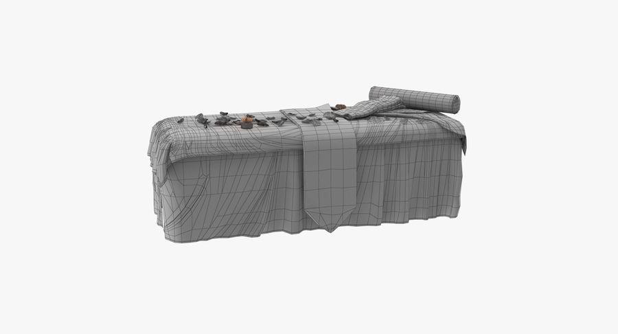 Spa och avkopplande säng royalty-free 3d model - Preview no. 22
