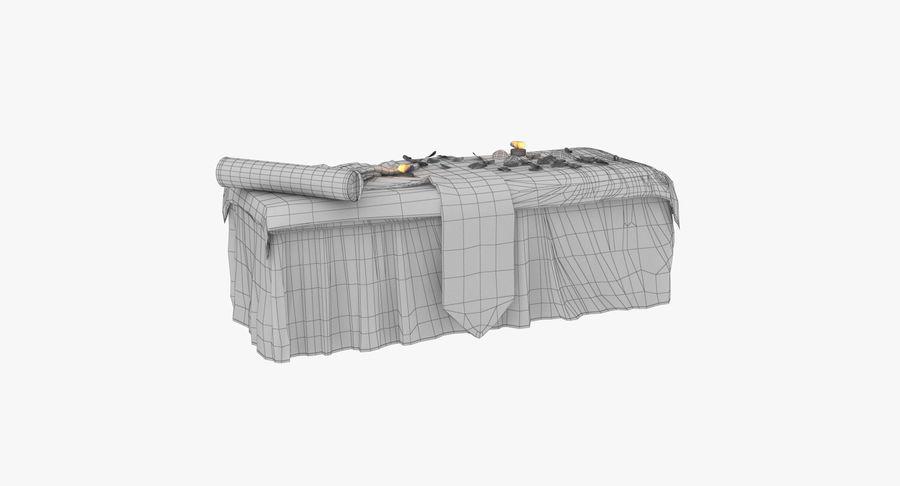 Spa och avkopplande säng royalty-free 3d model - Preview no. 19
