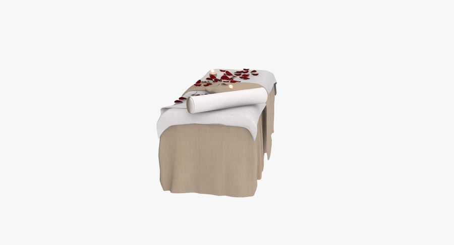 Spa och avkopplande säng royalty-free 3d model - Preview no. 9