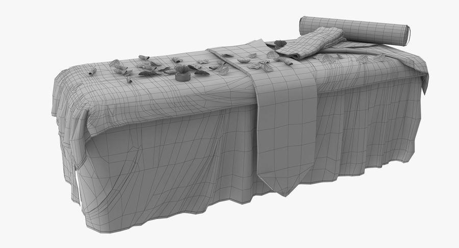 Spa och avkopplande säng royalty-free 3d model - Preview no. 15