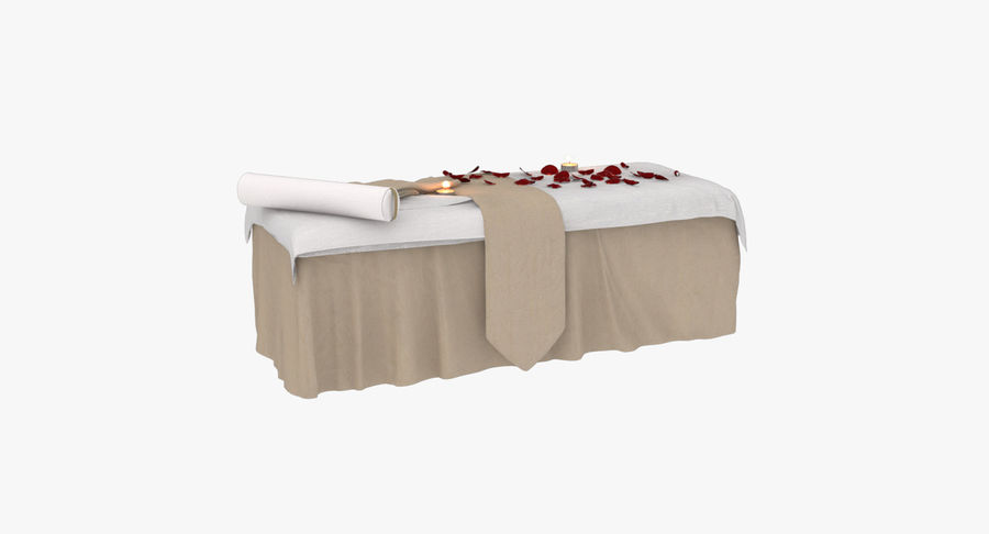 Spa och avkopplande säng royalty-free 3d model - Preview no. 8