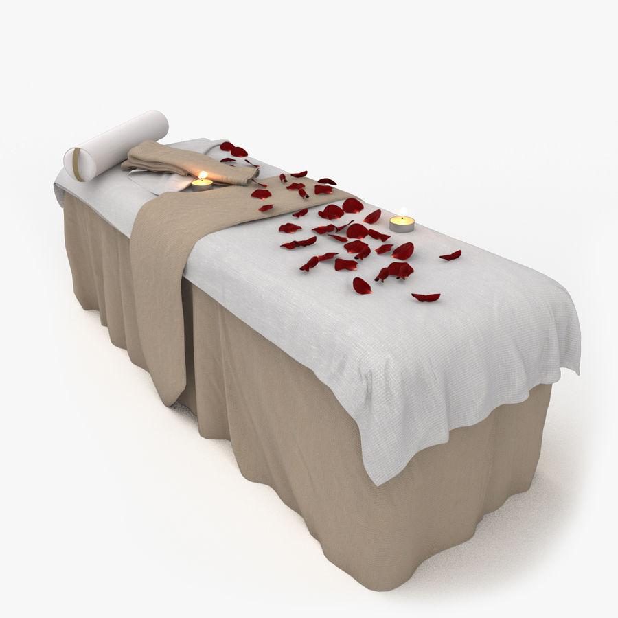 Spa och avkopplande säng royalty-free 3d model - Preview no. 1