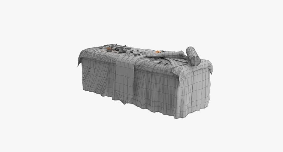 Spa och avkopplande säng royalty-free 3d model - Preview no. 21