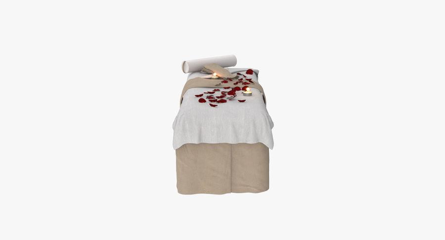 Spa och avkopplande säng royalty-free 3d model - Preview no. 6