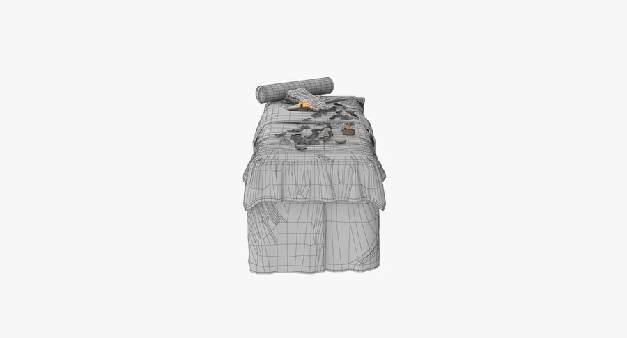 Spa och avkopplande säng royalty-free 3d model - Preview no. 17
