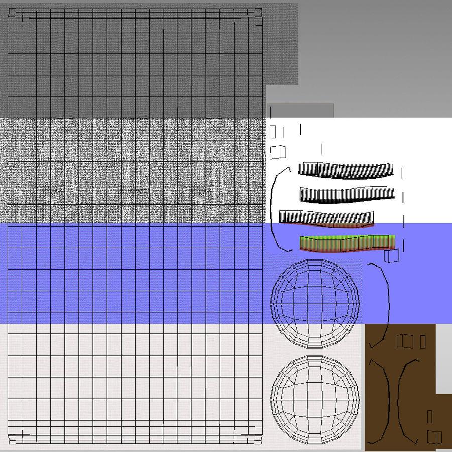 Spa och avkopplande säng royalty-free 3d model - Preview no. 28