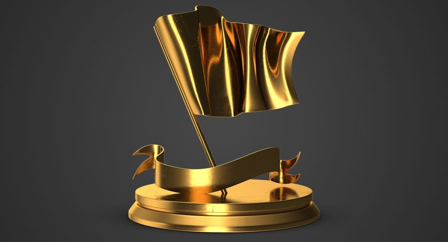 Trophy 6 Flag royalty-free 3d model - Preview no. 3