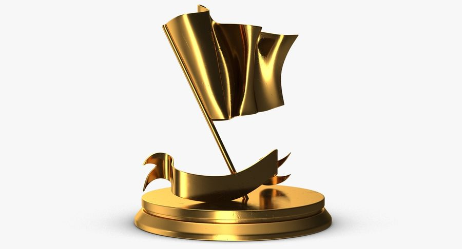 Trophy 6 Flag royalty-free 3d model - Preview no. 4