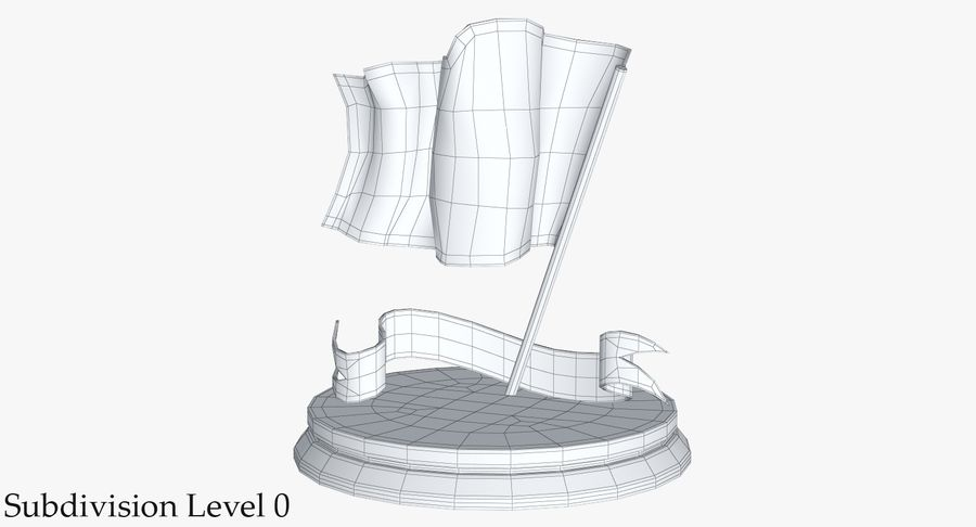 Trophy 6 Flag royalty-free 3d model - Preview no. 16