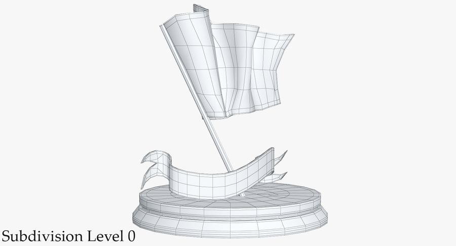 Trophy 6 Flag royalty-free 3d model - Preview no. 12