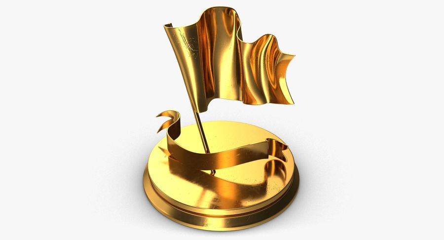 Trophy 6 Flag royalty-free 3d model - Preview no. 5