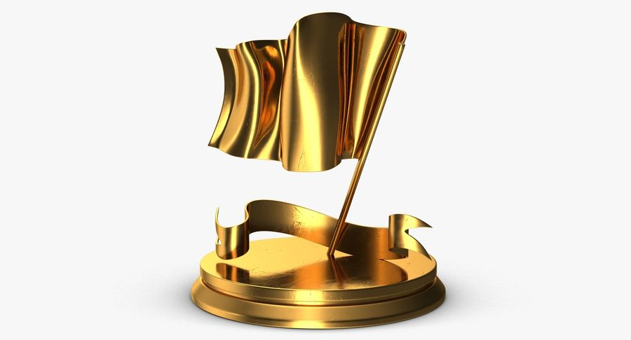 Trophy 6 Flag royalty-free 3d model - Preview no. 7