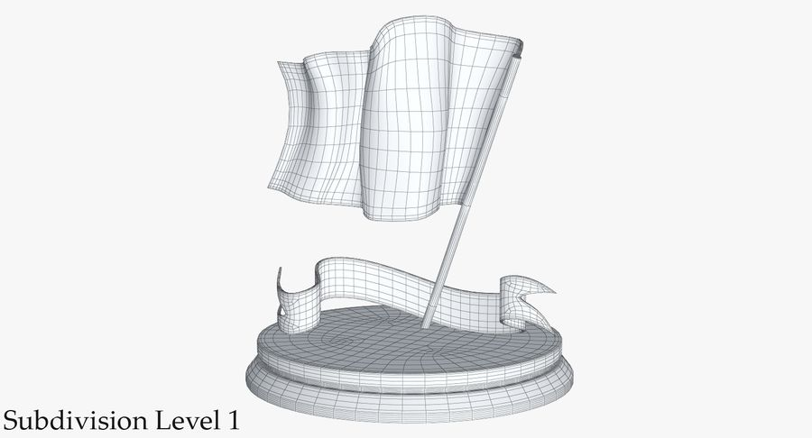 Trophy 6 Flag royalty-free 3d model - Preview no. 17