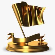 Trophy 6 Flag 3d model