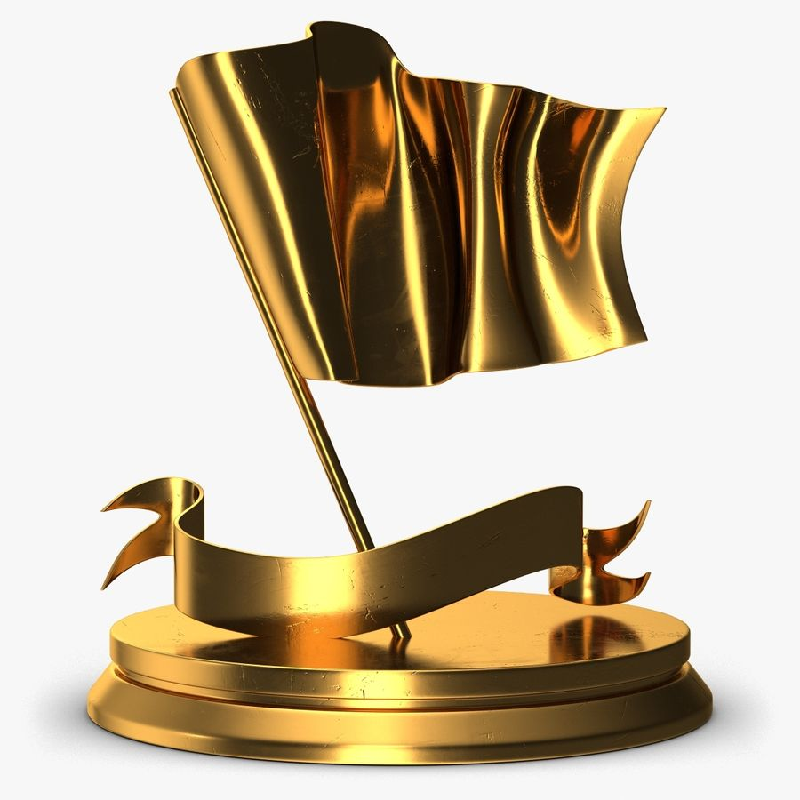 Trophy 6 Flag royalty-free 3d model - Preview no. 1
