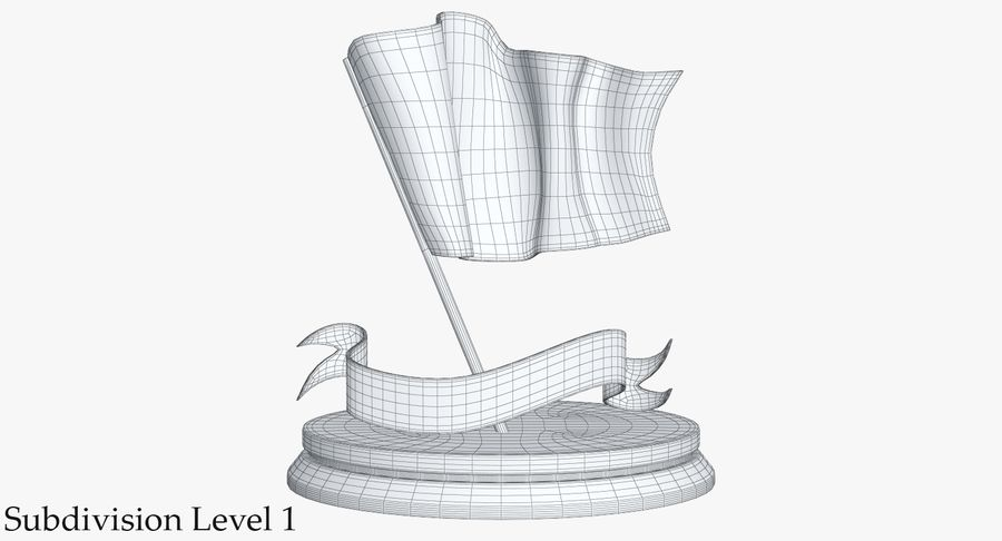 Trophy 6 Flag royalty-free 3d model - Preview no. 11