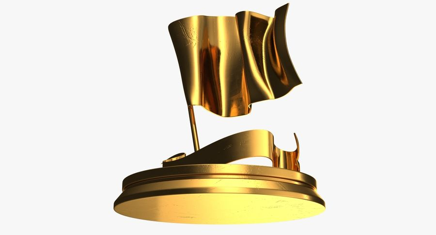Trophy 6 Flag royalty-free 3d model - Preview no. 8