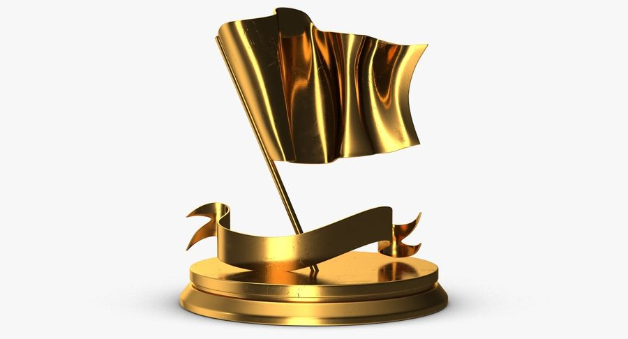 Trophy 6 Flag royalty-free 3d model - Preview no. 2