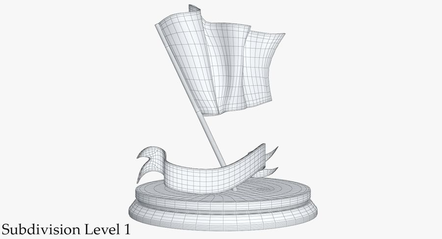 Trophy 6 Flag royalty-free 3d model - Preview no. 13