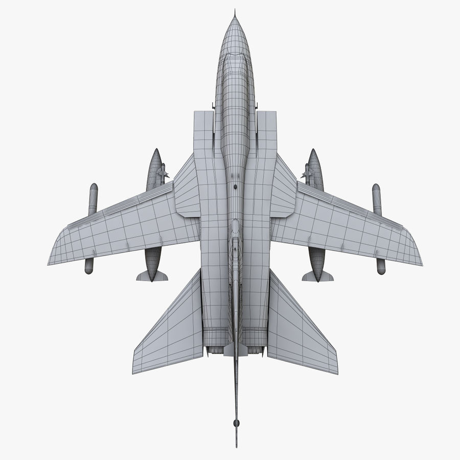 Panavia Tornado royalty-free 3d model - Preview no. 16