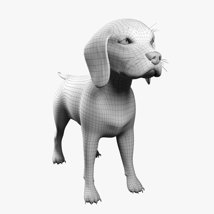 比格犬 royalty-free 3d model - Preview no. 9