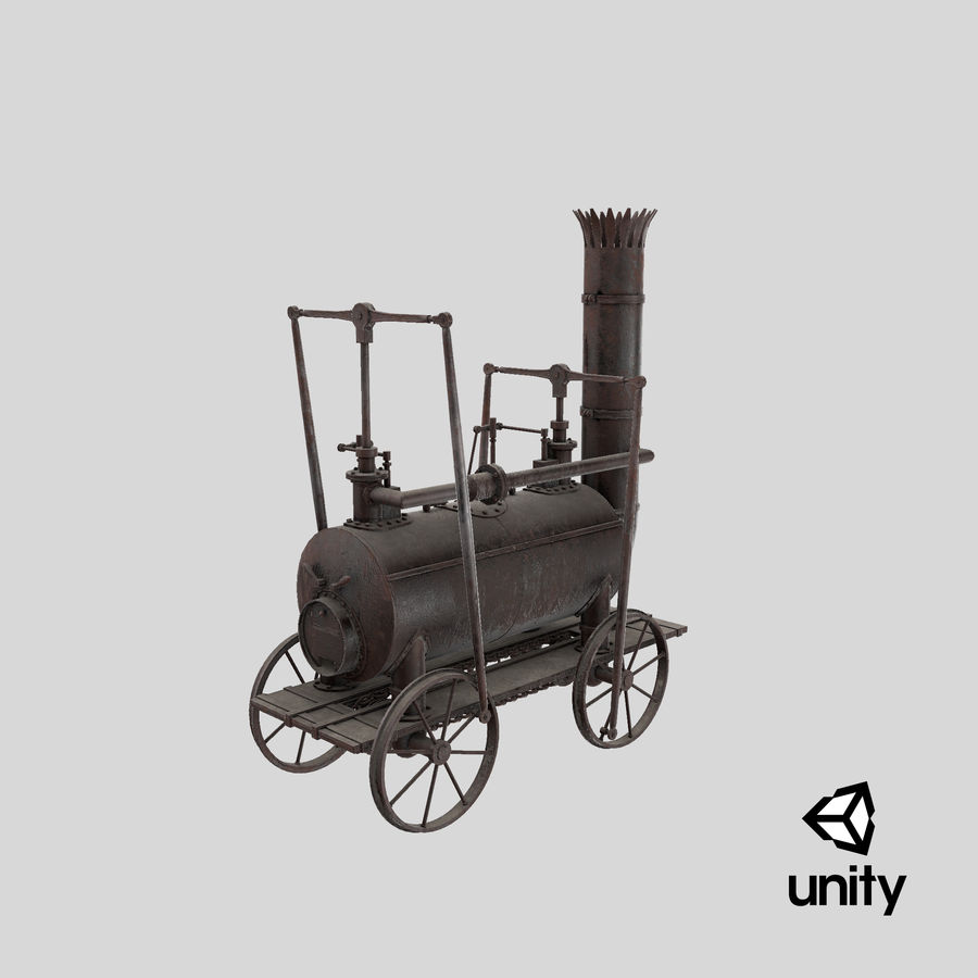 古い蒸気機関車 royalty-free 3d model - Preview no. 29